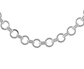 9.2mm Silver Round Link Handmade Bracelet