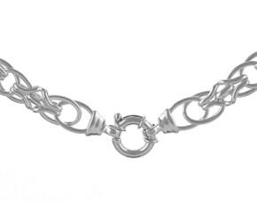 9.6mm Silver Fancy Handmade Bracelet