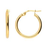 9ct Yellow Gold 18mm Hoop Earrings