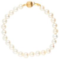 9ct Gold 6mm Freshwater Pearl Bracelet