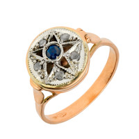 Handcrafted Italian Sapphire & Diamond Potion Ring
