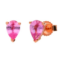 9ct Rose Gold 0.87ct Pink Sapphire Stud Earrings