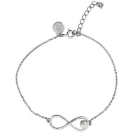 Sterling Silver Freshwater Pearl Infinity Bracelet