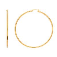 9ct Yellow Gold 54mm Hoop Earrings