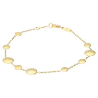 9ct Yellow Gold Disc & Chain Bracelet
