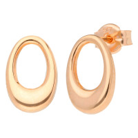 9ct Rose Gold Oval Stud Earrings