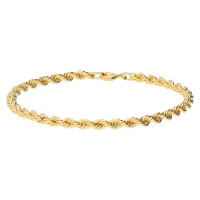 9ct Yellow Gold 3.2mm Fancy Rope Bracelet