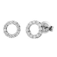9ct White Gold Diamond Earrings