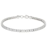 9ct White Gold & Cubic Zirconia Tennis Bracelet