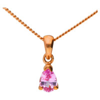 9ct Rose Gold 0.45ct Pink Sapphire Solitaire Pendant
