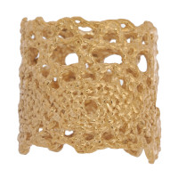 18ct Gold Vermeil Wide Lace Ring