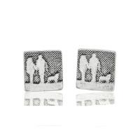 Sterling Silver Couple & Mans Best Friend Earrings