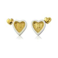Sterling Silver Heart to Heart Earrings