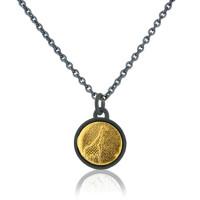 Sterling Silver Little Black & Gold Giraffe Necklace