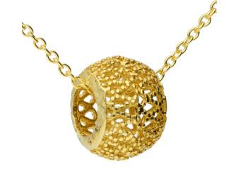 9ct Yellow Gold Open Bead Pendant