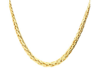 9ct Yellow Gold Fancy Graduated Palmier Necklace