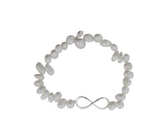 Freshwater Freshwater Pearl Infinity Bracelet