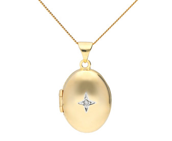 9ct Gold Oval Locket