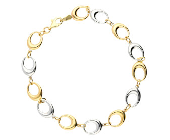 9ct White & Yellow Gold Bracelet