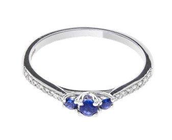 18ct White Gold Sapphire & Diamond Dress Ring
