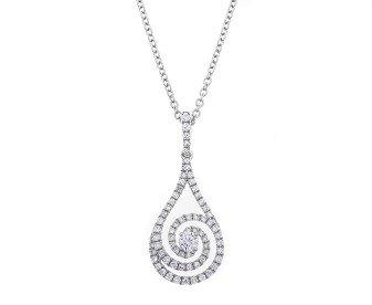18ct White Gold 0.50ct Diamond Dress Pendant
