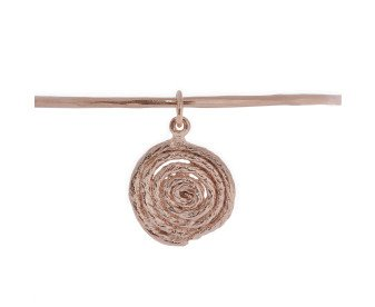 18ct Rose Gold Vermeil Bangle with String Spiral