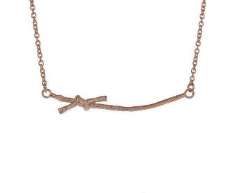 18ct Rose Gold Vermeil Knotted String Necklace