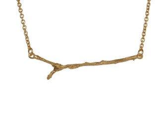 18ct Gold Vermeil Twig Necklace