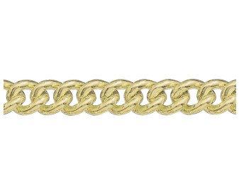 9ct Gold Heavy Close Curb Chain Bracelet