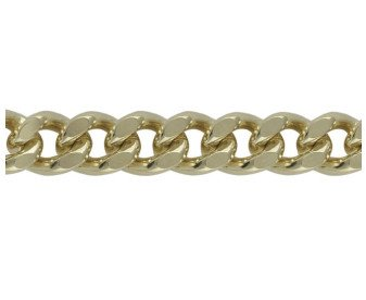9ct Gold Heavy Filed Curb Chain Bracelet