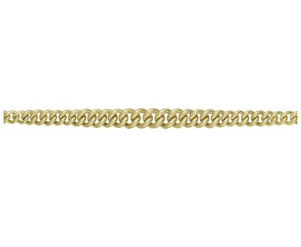 9ct Gold Graduated Curb Chain Bracelet