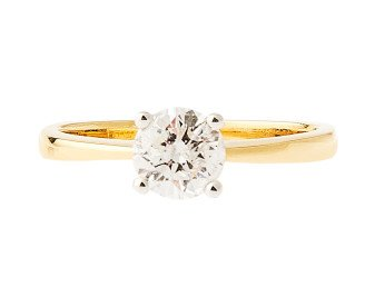 18ct Gold Certified 0.50ct Diamond Solitaire Ring