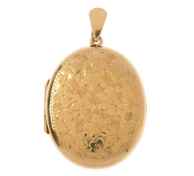 Vintage 1970's 9ct Yellow Gold Oval Locket