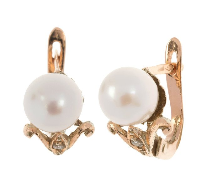 Handcrafted Italian 6 6mms Cultured Pearl Earrings