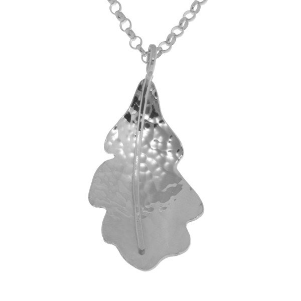 Sterling Silver Small Oak Leaf Pendant
