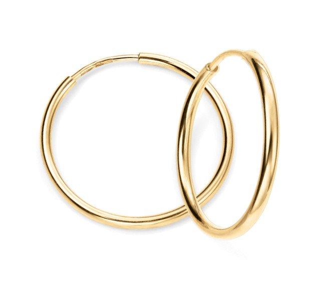 9ct Gold Sleeper Hoop Earrings