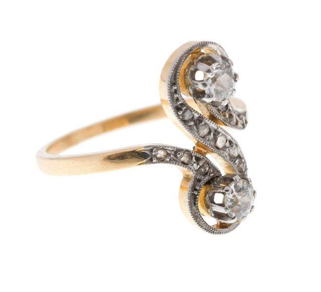 Antique continental 18ct Gold Diamond Dress Ring